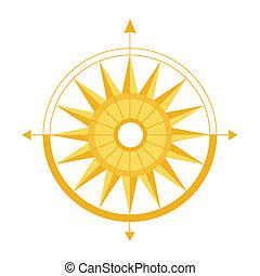 définition, parties, illustration, vecteur, compas, world.