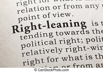 définition, right-leaning