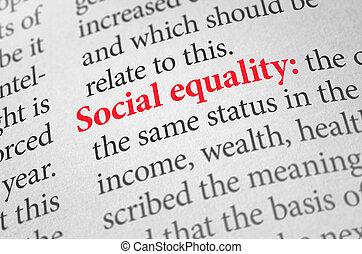définition, terme, égalité, dictionnaire, social