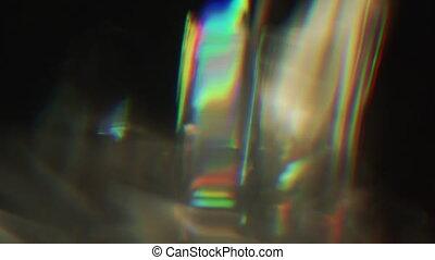 déformation, vibrant, concept., aléatoire, rayons, tv, vhs, lumière, bruyant