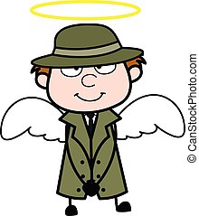 déguisement, dessin animé, ange, espion
