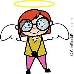 déguisement, dessin animé, prof, ange