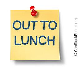 déjeuner, dehors