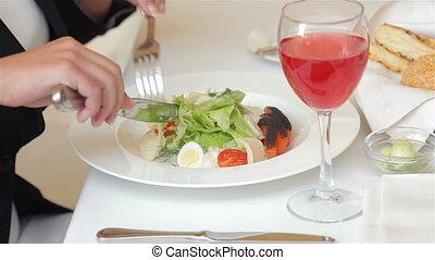 déjeuner, gros plan, image, business