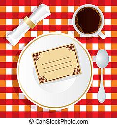 déjeuner, invitation