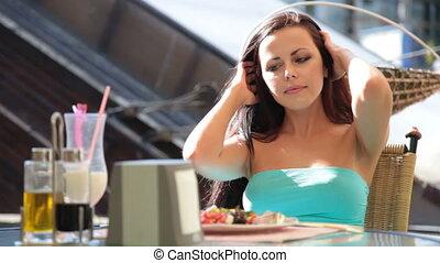 déjeuner, restaurant extérieur