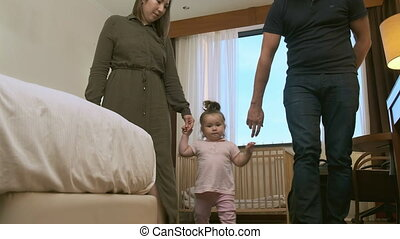 délassant, hotel., après, famille