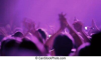 délirer, fête, applaudir, lot, gens