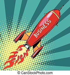 démarrage, business, fusée