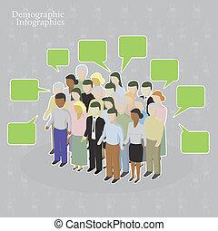 démographique, infographics