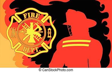 département, pompier, brûler
