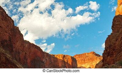 dépassement, nuages, sur, canyon, grandiose