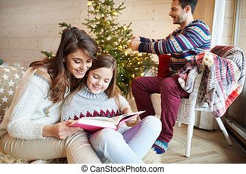 dépenser, agréable, famille, ensemble, temps