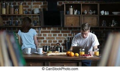 dépenser, couple, séduisant, loisir, cuisine