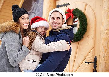 dépenser, vacances, noël, famille, dehors