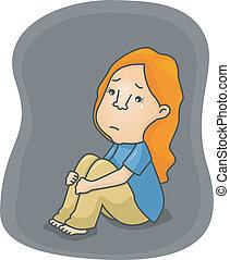déprimé, girl