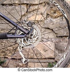 dérailleur, vélo tout terrain