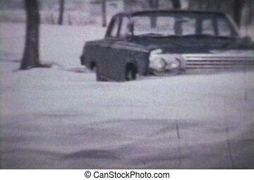 dérives, hiver, (1963, -, neige, vintage)