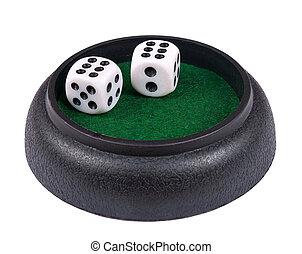 dés, double, isolé, six, -, jeux & paris