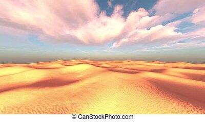 désert, 3d, rendre