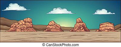 désert, fond