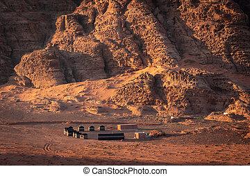 désert, jordanie, oued, camping, expérience, bédouin, rhum