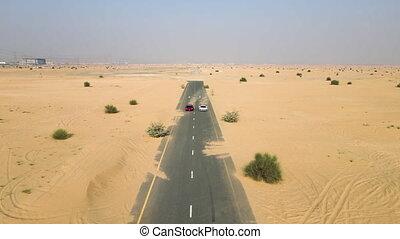 désert, sport, voiture courir