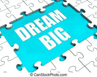 désir, énorme, grand, puzzle, ambition, rêve, espoir, spectacles