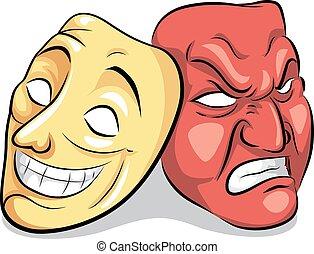 désordre, bipolaire, masque, personnalité