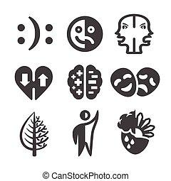désordre, icône, bipolaire