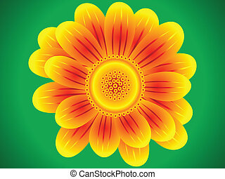détaillé, résumé, fleur