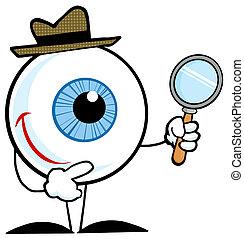 détective, globe oculaire