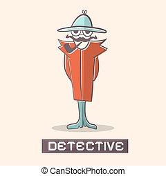 détective, vecteur, illustration