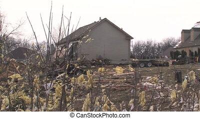 détruit, maison, 1