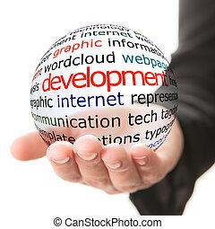 développement, concept, social