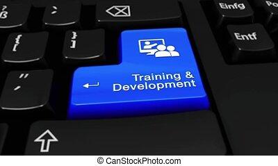 développement, formation, button., mouvement, informatique, 325., clavier, rond