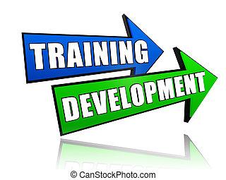 développement, formation, flèches