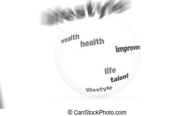 développement, mot, sphère, personnel