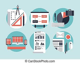 développement, processus, affaires modernes