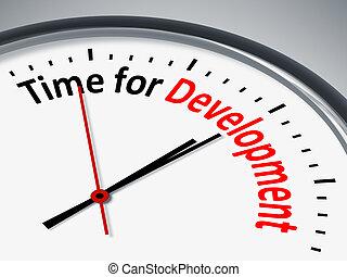 développement, temps