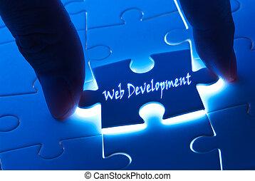 développement, toile, laissez perplexe morceau