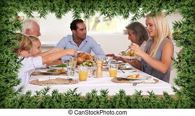 dîner, arbre généalogique, noël, frontière