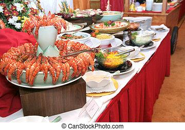 dîner, buffet