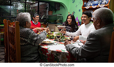 dîner famille, noël
