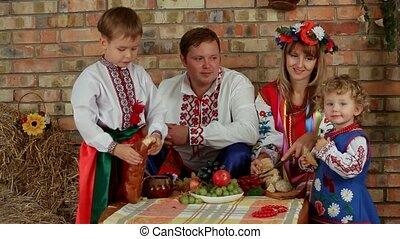 dîner, famille, ukrainien