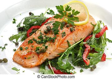 dîner, saumon