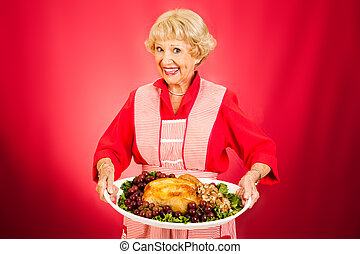 dîner thanksgiving, grand-maman