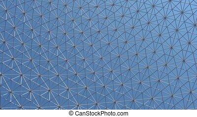 dôme, géodésique, clair, sous, ciel