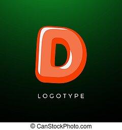 d, zone, espiègle, monogram, comique, logo, conception, vecteur, typographie, gosses, préscolaire, fête, livre, école, logotype, joie, décoration, style, bébé, ou, jeu, template., 3d, lettre, symbole