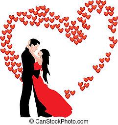 da, love., woman., homme, valentine